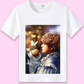 Áo phông BTS V áo thun BTS tặng sticker BTS