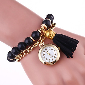 Casual Bead Chain Tassel Watch Wristwatch Quartz Watch Bracelet Women Ladies
