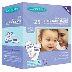 Túi trữ sữa mẹ Lansinoh 50pcs/hộp / thương hiệu Mỹ