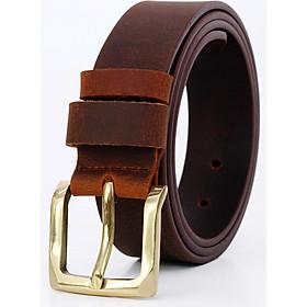 Thắt lưng nam da bò sáp khóa đồng  AT Leather S4K-03