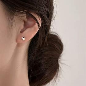 Khuyên Tai Bạc Nhí Hóa 5 Cánh B2611 - Bảo Ngọc Jewelry