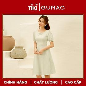 Đầm váy nữ DA10123 GUMAC thiết kế  tay phồng mắt cáo