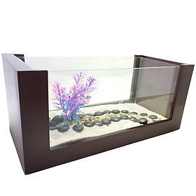 Bể cá mini khung gỗ màu gỗ