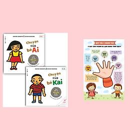 Combo Sách Giáo Dục Giới Tính Mẹ Đọc Cùng Bé: Chuyện Của Bé Ai + Chuyện Của Bé Kai / Poster An Toàn Cho Con Yêu