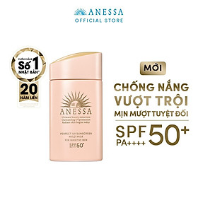 Kem Chống Nắng Anessa Perfect UV Sunscreen Mild Milk For Sensitive Skin Spf 50+ Pa++++ (60ml)