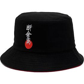 Nón Mũ Bucket Nam Nữ freesize 2 mặt màu đen Japan vải kaki mịn Form chuẩn đẹp The Ngầu Style