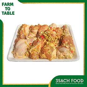 [Chỉ Giao HCM] - [RTC] Đùi Gà Ướp Sả Ớt khay 600gr - Nguyên liệu đã được sơ chế, giúp tiết kiệm thời gian chuẩn bị bữa ăn chỉ còn một nửa