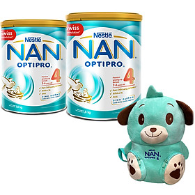 Combo 2 Lon Sữa Bột Nestlé NAN OPTIPRO 4 (1.8kg/lon) - Tặng Balo Gấu Mèo