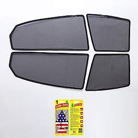 Bộ rèm che nắng ô tô nam châm theo xe ACCENT - Hàng Chính Hãng - Quà tặng cây thông thơm treo xe