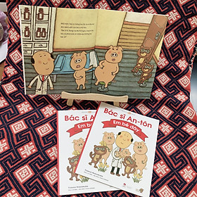 Bác sĩ Anton -Em Bé Đây - Tranh truyện Ehon Nhật Bản kích thích tư duy cho trẻ từ 3-6 tuổi.