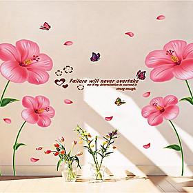 Hình đại diện sản phẩm decal dán tường hoa râm bụt hồng xl8175