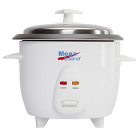 Nồi cơm điện MEGA chính hãng 1.8L MCRCGSSLV10-700W