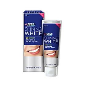 Kem đánh răng cao cao cấp làm trắng răng chuyên biệt 2080 SHINING WHITE 3D EFFECT 100g - Hàn Quốc Chính Hãng