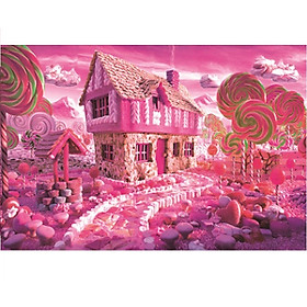 Tranh ghép hình 1000 mảnh gỗ - Lollipop ngôi nhà kẹo mút