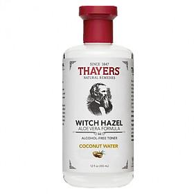 Nước Hoa Hồng Không Cồn Thayers Hương Dừa - Thayers Witch Hazel Coconut Water 355ml (Dành cho da thường, da khô, da lão hóa)