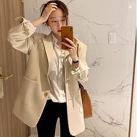 Áo khoác Blazer/Vest thiết kế đơn giản phong cách ulzzang