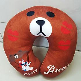 Gối Chữ U Gấu Brown U12 (Màu Nâu)