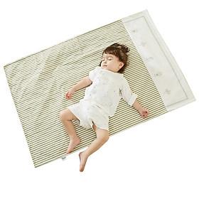 Liangliang (liangliang) baby insulation pad hemp cotton newborn baby pad green 110*72cm