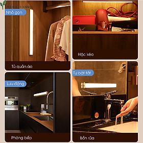 Đèn Led cảm ứng tự động sáng, tắt khi có người đến gần, pin sạc 3 tháng/lần, siêu bền
