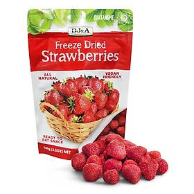 Dâu tây Úc sấy giòn DJ&A Freeze Dried Strawberries 100g