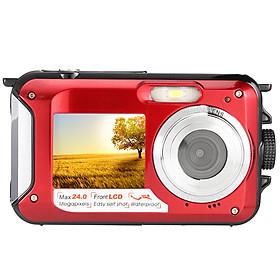 """Máy Ảnh Kỹ Thuật Số  Màn Hình LCD Kép Có Khả Năng Chống Nước Dual (HD 24 MP 16X) (2.7"""")"""
