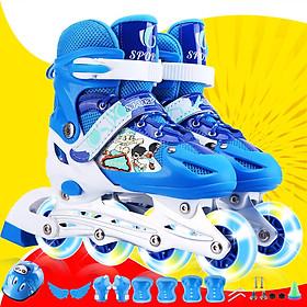 Giày Patin Có Đèn Led 8 Bánh Thời Trang - Tặng đầy đủ mũ bảo hiểm, phụ kiện chơi và đồ bảo hộ
