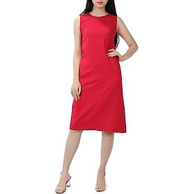 Váy Suông Đỏ Hoa việt
