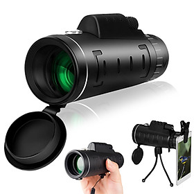 40X60 High Power Monocular Telescope for Bird Watching with Compass Smartphone Adapter and Tripod for Bird Watching