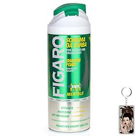 Bọt cạo râu bạc hà Figaro Methol 400ml tặng kèm móc khóa