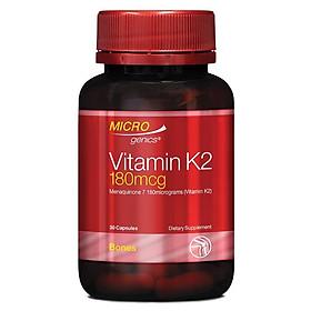 Microgenics Vitamin K2 180mcg 30 Capsules
