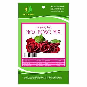 Combo 2 gói Hạt giống hoa Hoa hồng mix Golden Seeds 5 Hạt