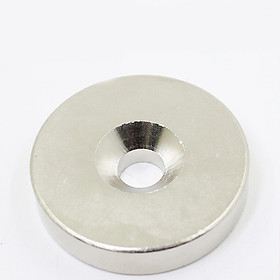 Nam Châm Đất Hiếm Tròn 20x5mm CÓ LỖ ( từ tính hút cực mạnh)
