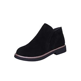 Giày Bốt Nữ Da Lộn Mềm Đẹp Cá Tính 3Fashion - MSP 3123