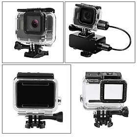 Waterproof Housing Case Diving Touch Screen Cover For Gopro Hero 7 Silver White