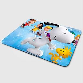 Miếng lót chuột mẫu Cún Snoopy Trượt Băng (20x24 cm) - Hàng Chính Hãng