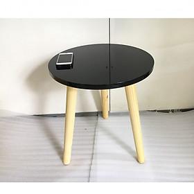 Bàn trà, bàn sofa tròn đen 40x45, bàn cafe phòng khách, bàn coffee, bàn gỗ cà phê