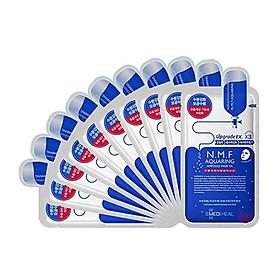 Hộp 10 Mặt nạ cấp nước dưỡng ẩm cho da khô Mediheal N.M.F Aquaring Ampoule Mask Ex