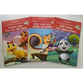 Combo (3 cuốn) Thế Giới Tuyệt Vời Của Động Vật: Thằn Lằn Và Tắc Kè Hoa + Sóc Con Và Chim Gõ Kiến + Gấu Trúc Và Chim Công