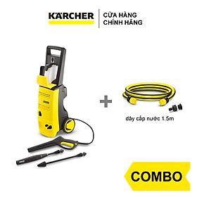 Combo Máy phun rửa áp lực cao Karcher K 3.450 và dây cấp nước 1.5m