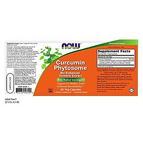 Viên Uống Now Curcumin Phytosome Chiết Xuất Củ Nghệ (60 Viên Nang Thực Vật)