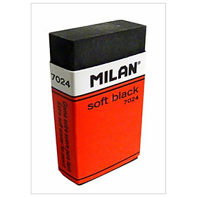 Bộ 4 Gôm Milan Soft Black Plastic Erasers