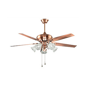 Quạt trần đèn 5 cánh - Quạt trần đèn trang trí phòng khách - Quạt trần đèn đẹp trang trí QT1020
