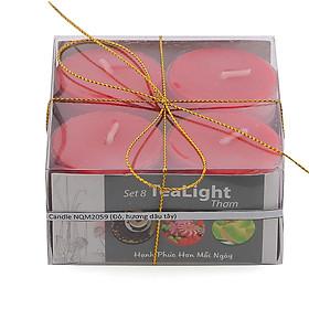 Hộp 8 nến tealight thơm đế nhựa Miss Candle NQM2059
