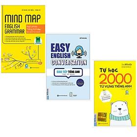 Bộ sách nâng cao trình độ Tiếng Anh: Mindmap English Grammar - Ngữ Pháp Tiếng Anh Bằng Sơ Đồ Tư Duy+ Tự Học 2000 Từ Vựng Tiếng Anh Theo Chủ Đề + Giao Tiếp Tiếng Anh Thật Dễ Dàng - Easy English Conversation