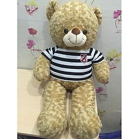 Gấu bông Teddy ICHIGO khổ vải 1m màu sữa