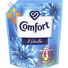 Nước Xả Làm Mềm Vải Comfort Chăm Sóc Chuyên Sâu Đậm Đặc Một Lần Xả Hương Ban Mai Túi 3.2L
