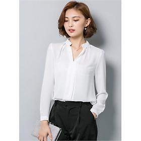 Sơ mi cổ V thời trang Đũi Việt DVSM08