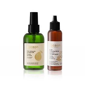 Bộ Nước dưỡng tóc tinh dầu bưởi Cocoon 140ml + Sa-chi Serum phục hồi tóc 70ml