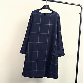 Đầm bầu suông caro công sở Haint Boutique 40