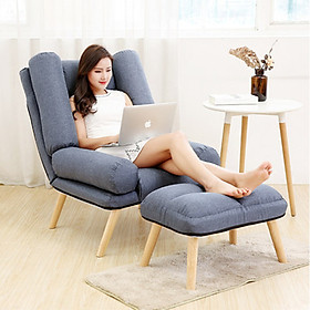 Ghế Thư Giãn, Ghế sofa nệm thư giãn, ghế ngồi ban công, ghế nằm đọc sách xem phim, ghế tựa lưng, ghế tựa lưng GHR008 (giao màu ngẫu nhiên)